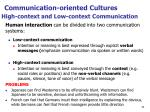 high context and l ow context communication