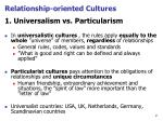 relationship oriented cultures