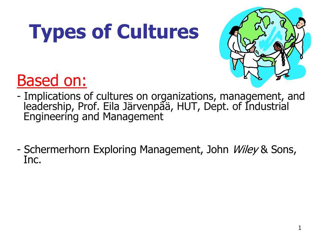 types of cultures l.