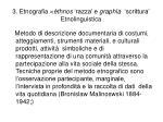 3 etnografia thnos razza e graph a scrittura etnolinguistica