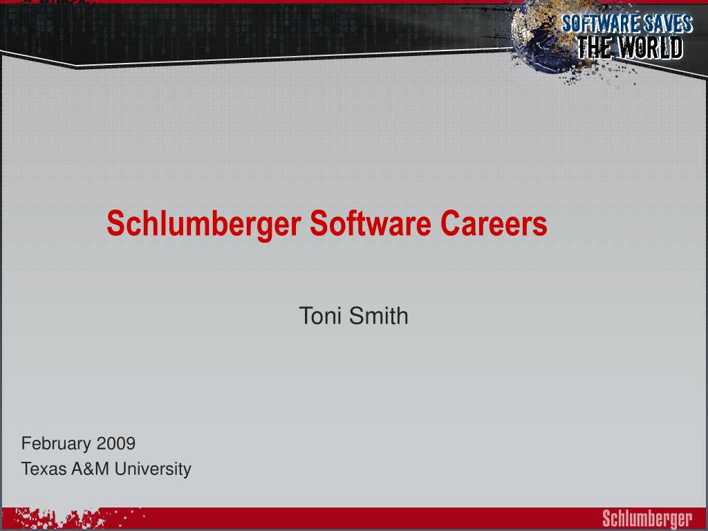 schlumberger software careers l.