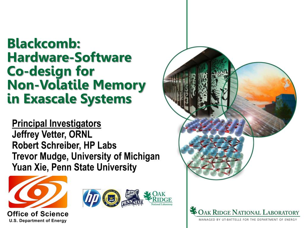 blackcomb hardware software co design for non volatile memory in exascale systems l.