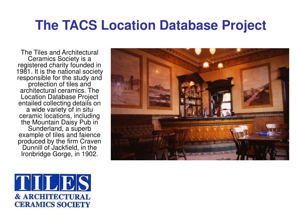 the tacs location database project l.