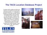 the tacs location database project5