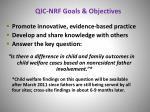 qic nrf goals objectives