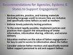 recommendations for agencies systems states to support engagement35