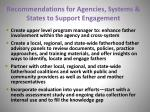 recommendations for agencies systems states to support engagement36