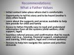 recommendations what a father values