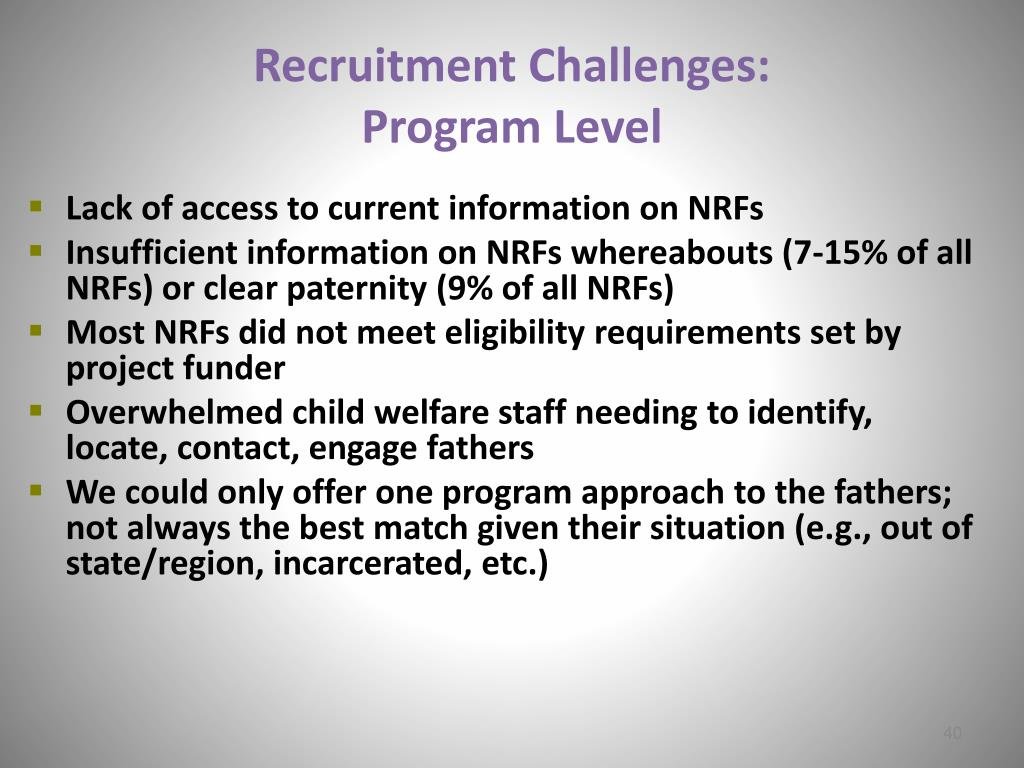 Recruitment Challenges: