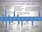 wa supreme court reversed tpr since trial court did not find mr salas unfit