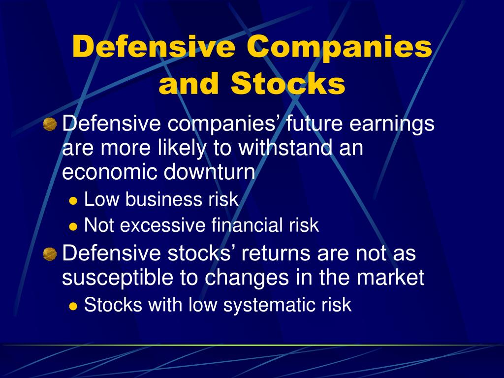 Defensive Companies and Stocks