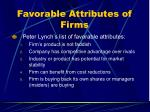 favorable attributes of firms
