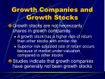 growth companies and growth stocks9