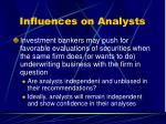 influences on analysts55
