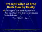 present value of free cash flow to equity30