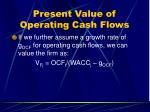 present value of operating cash flows28