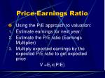price earnings ratio35