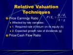 relative valuation techniques33