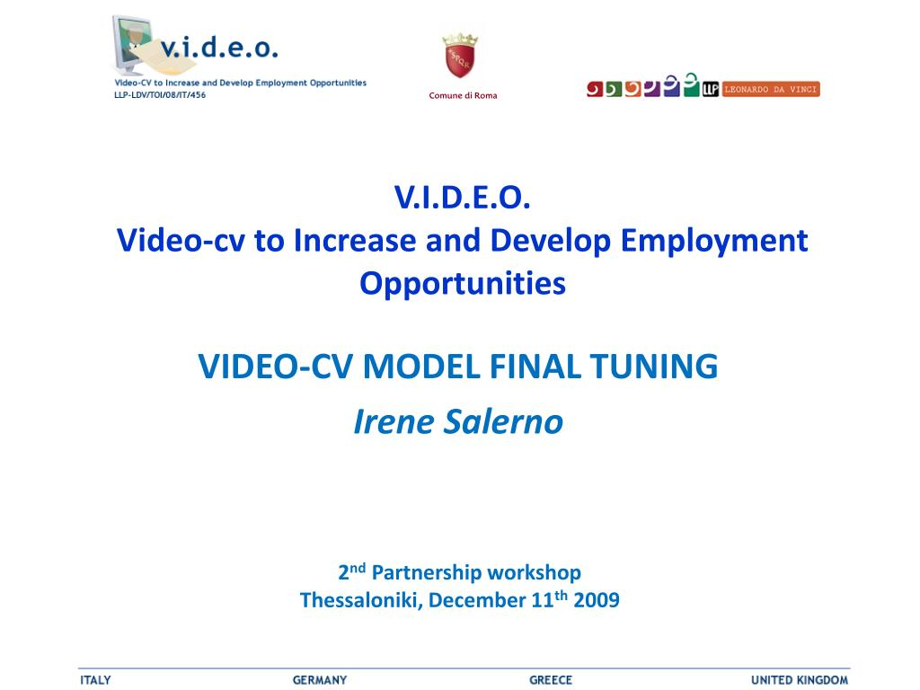 v i d e o video cv to increase and develop employment opportunities l.