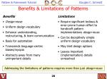benefits limitations of patterns