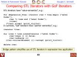 comparing stl iterators with gof iterators