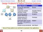 design problems pattern oriented solutions52