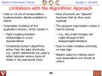 limitations with the algorithmic approach