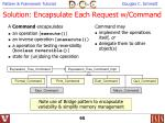 solution encapsulate each request w command