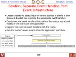 solution separate event handling from event infrastructure