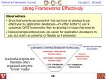 using frameworks effectively