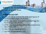 introduction of css