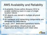 aws availability and reliability