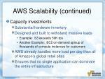 aws scalability continued