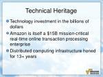 technical heritage