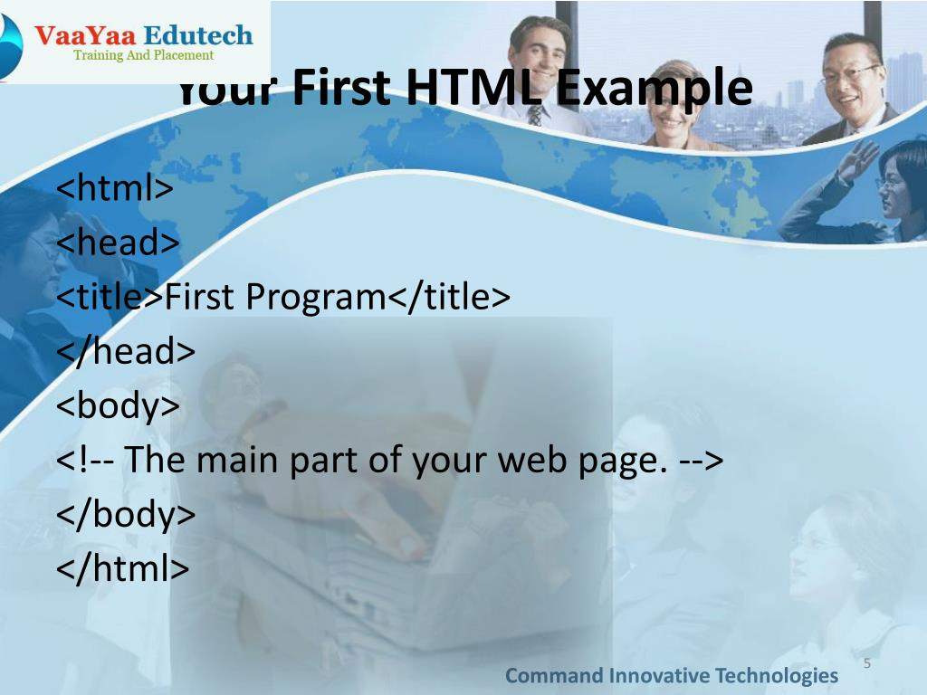Your First HTML Example