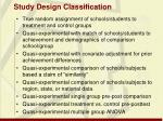 study design classification