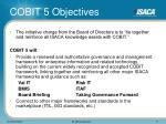 cobit 5 objectives