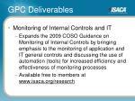gpc deliverables30