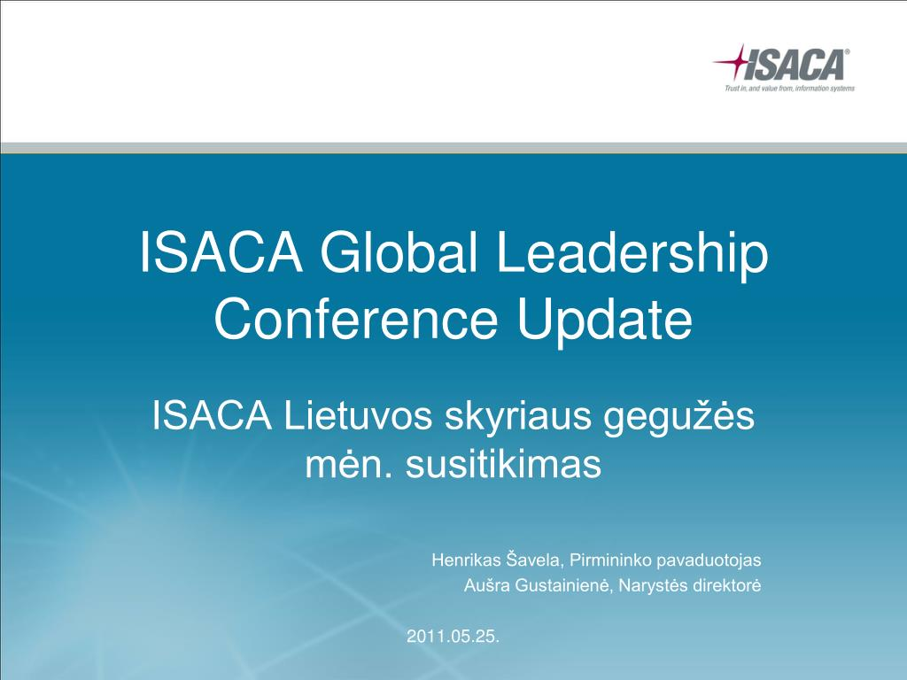 isaca global leadership conference update l.