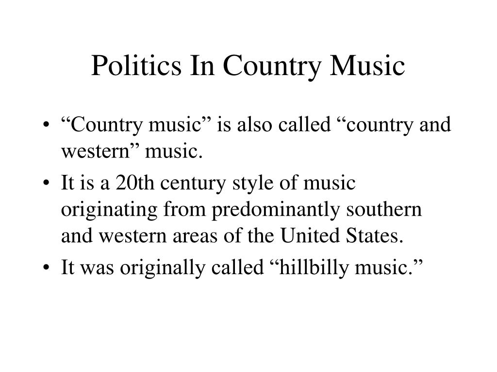 politics in country music l.