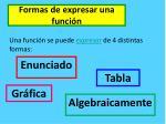 formas de expresar una funci n