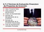 6 7 2 t cnicas de evaluaci n financiera de proyectos de inversi n