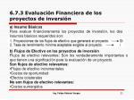 6 7 3 evaluaci n financiera de los proyectos de inversi n