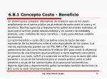 6 8 1 concepto costo beneficio