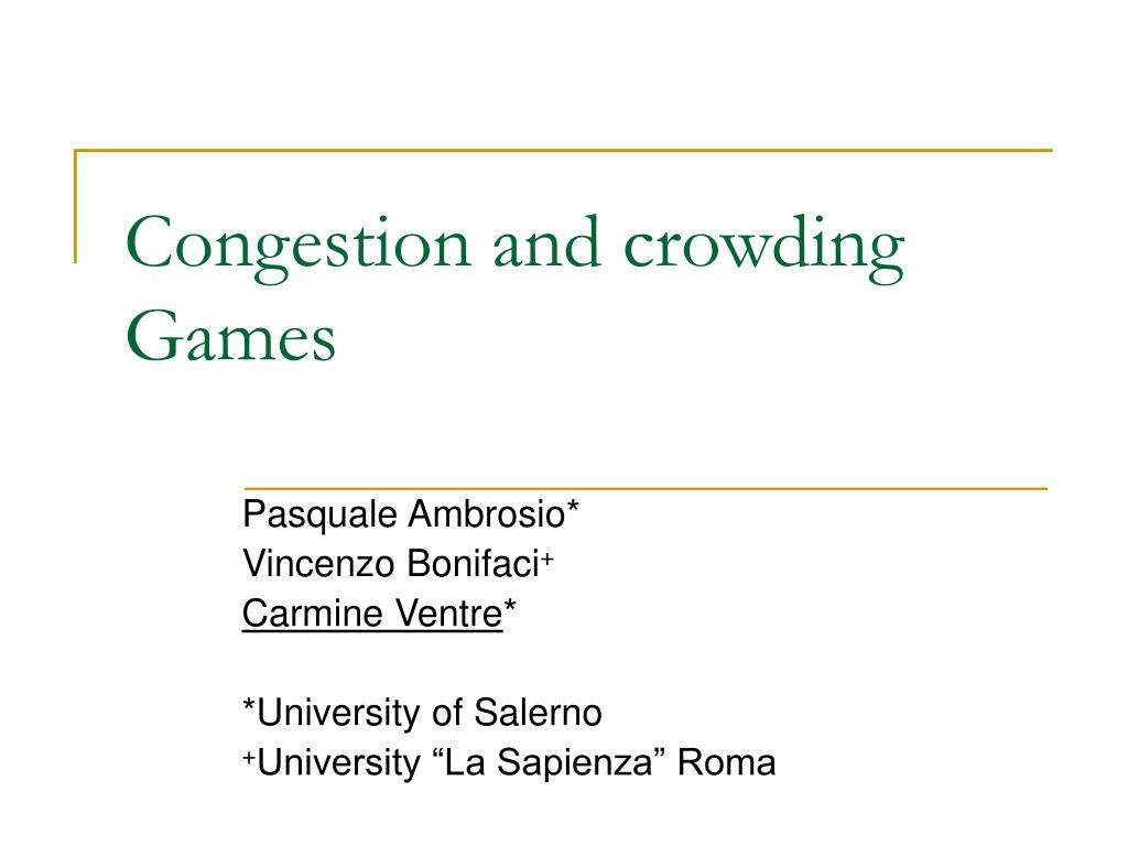 congestion and crowding games l.