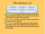 the interface 2