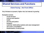 shared services and functions