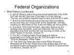 federal organizations12