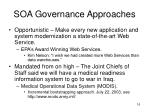 soa governance approaches