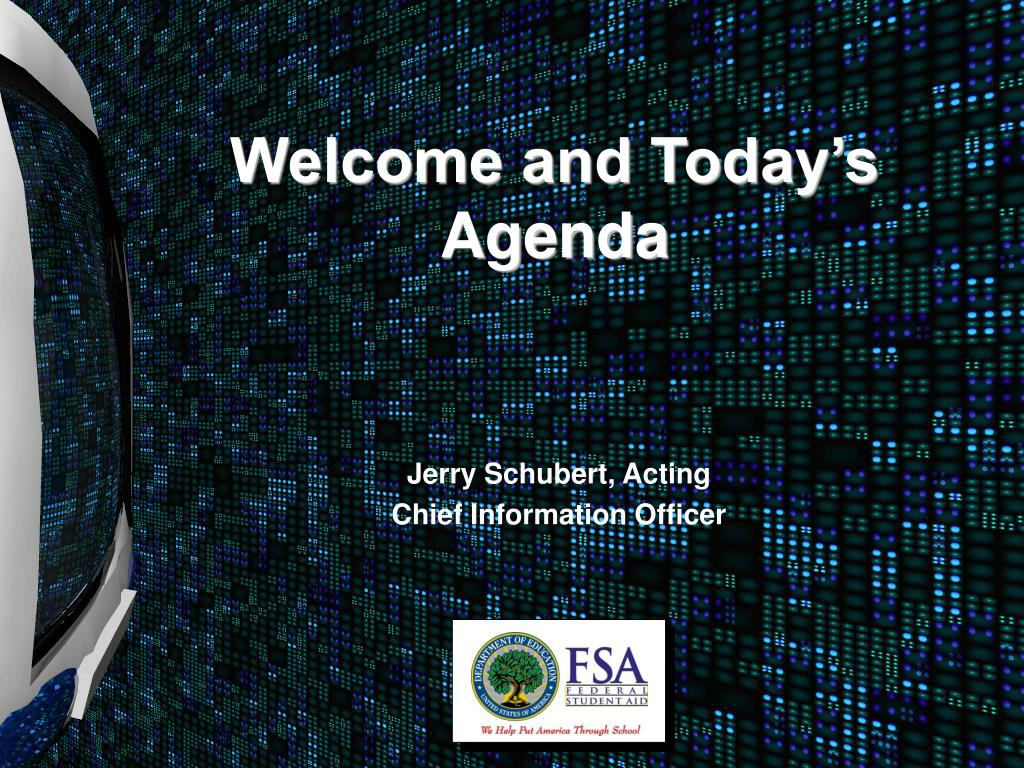 welcome and today s agenda l.